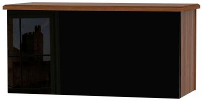 Knightsbridge Blanket Box - High Gloss Black and Noche Walnut