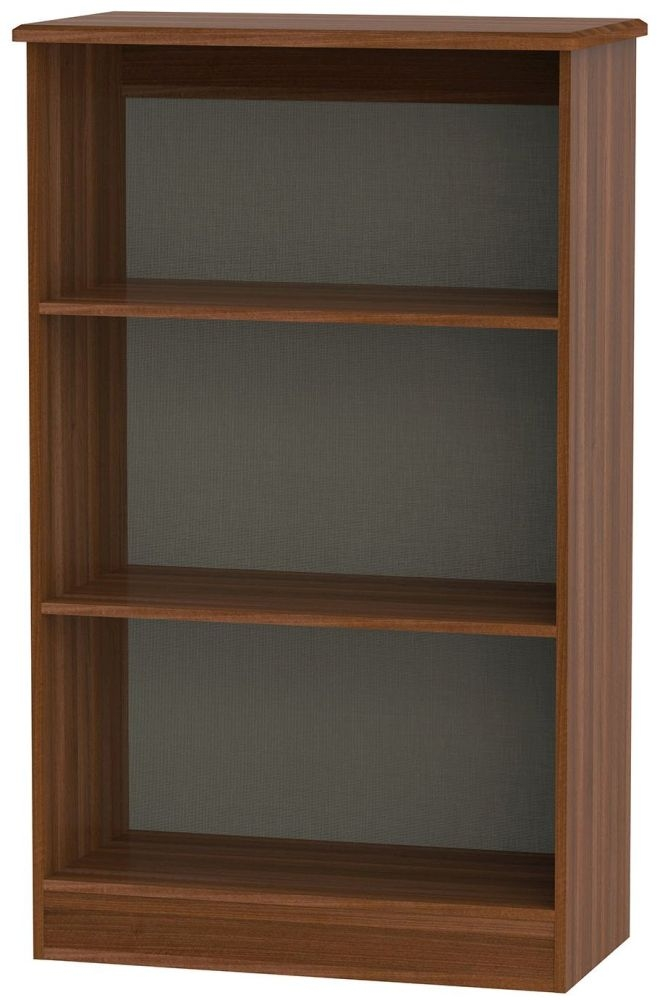 Knightsbridge Noche Walnut Bookcase - 2 Shelves