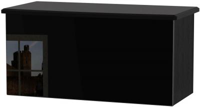 Knightsbridge Black Blanket Box