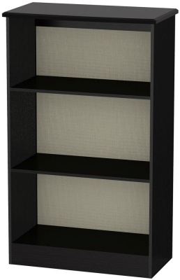 Knightsbridge Black Bookcase - 2 Shelves
