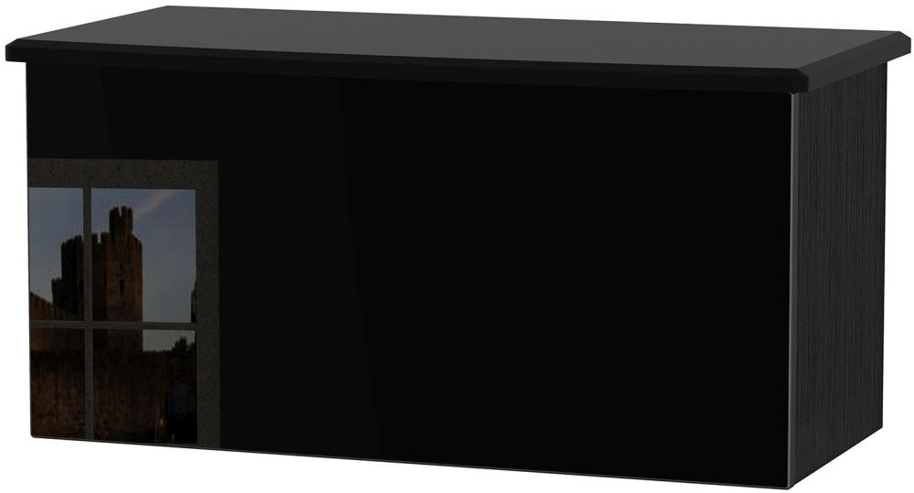 Knightsbridge High Gloss Black Blanket Box
