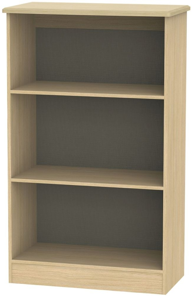 Knightsbridge Light Oak Bookcase - 2 Shelves