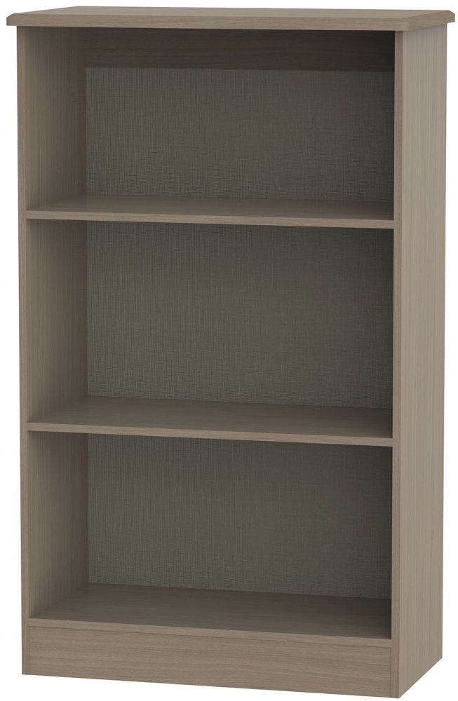 Knightsbridge Toronto Walnut Bookcase - 2 Shelves
