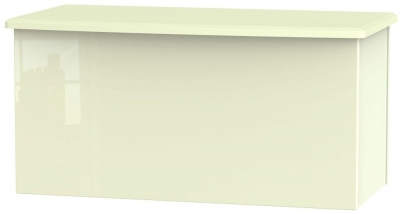 Knightsbridge High Gloss Cream Blanket Box