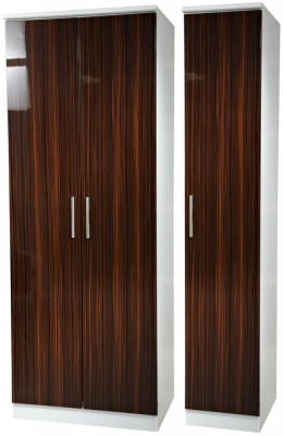 Knightsbridge Ebony Triple Plain Wardrobe