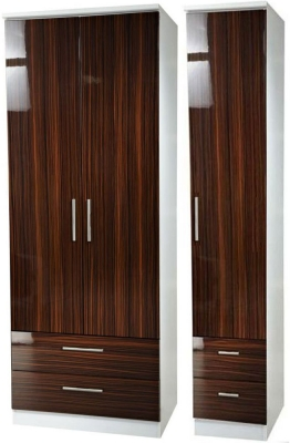 Knightsbridge Ebony Triple Wardrobe with Drawer