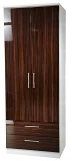 Knightsbridge Ebony Wardrobe - Tall 2ft 6in 2 Drawer