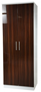 Knightsbridge Ebony Wardrobe - Tall 2ft 6in Plain