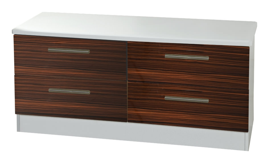 Knightsbridge Ebony Bed Box - 4 Drawer
