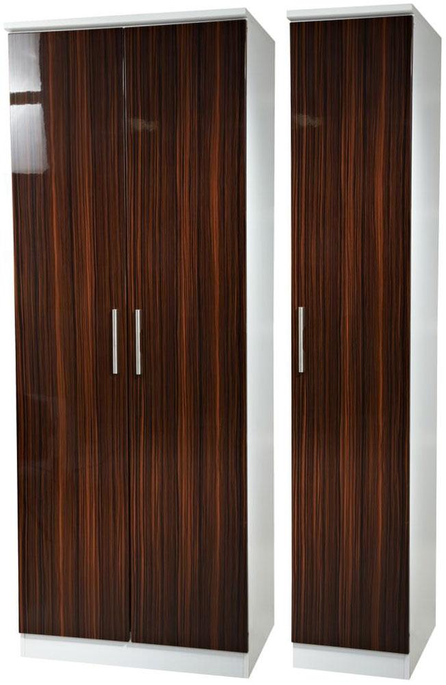 Knightsbridge Ebony Triple Plain Wardrobe