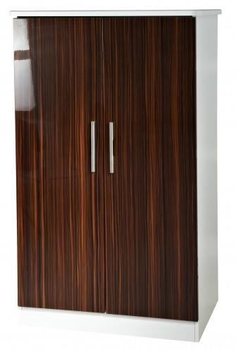 Knightsbridge Ebony Wardrobe - 2ft 6in Plain Midi