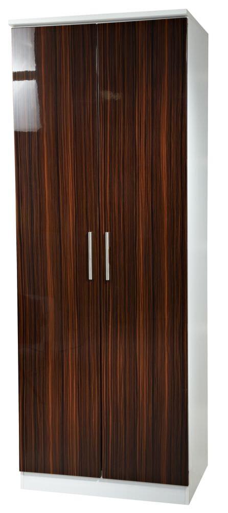 Knightsbridge Ebony Wardrobe - Tall 2ft 6in Plain