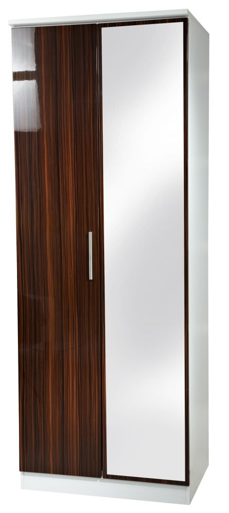 Knightsbridge Ebony Wardrobe - Tall 2ft 6in with Mirror