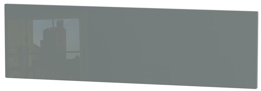 Knightsbridge High Gloss Grey Headboard