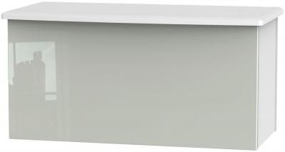 Knightsbridge Blanket Box - High Gloss Kaschmir and White