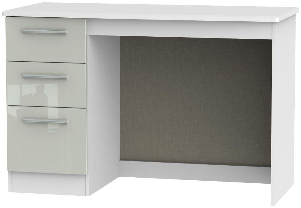 Knightsbridge Desk - High Gloss Kaschmir and White