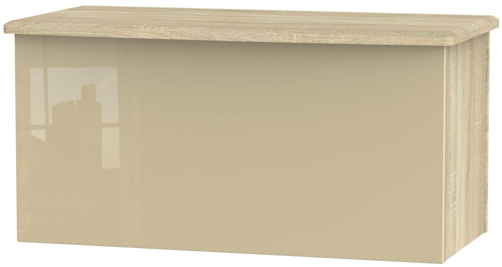 Knightsbridge High Gloss Mushroom and Bardolino Blanket Box