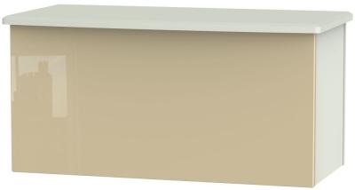 Knightsbridge Blanket Box - High Gloss Mushroom and Kaschmir Matt