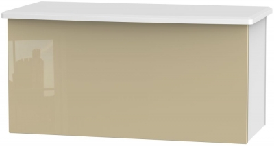 Knightsbridge Blanket Box - High Gloss Mushroom and White