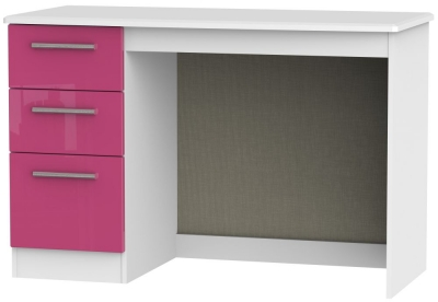 Knightsbridge High Gloss Pink and White Desk