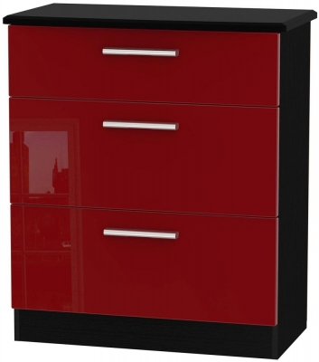 Knightsbridge Ruby Chest of Drawer - 3 Drawer Deep