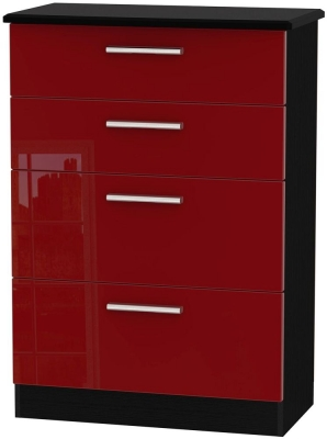 Knightsbridge Ruby Chest of Drawer - 4 Drawer Deep