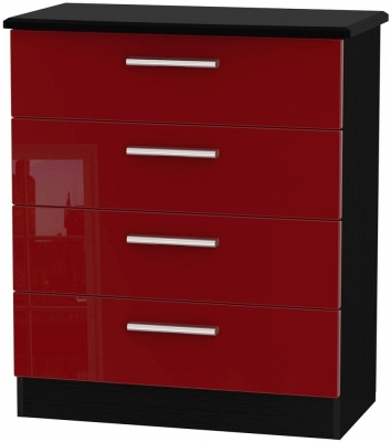 Knightsbridge Ruby Chest of Drawer - 4 Drawer