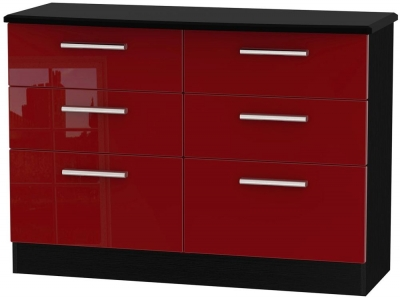 Knightsbridge Ruby Chest of Drawer - 6 Drawer Midi
