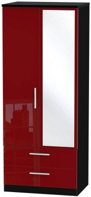 Knightsbridge Ruby Wardrobe - 2ft 6in with 2 Drawer and Mirror