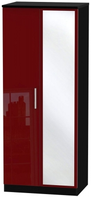 Knightsbridge Ruby Wardrobe - 2ft 6in with Mirror