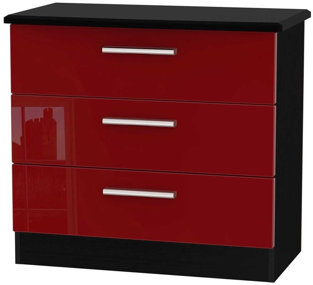 Knightsbridge Ruby Chest of Drawer -  3 Drawer