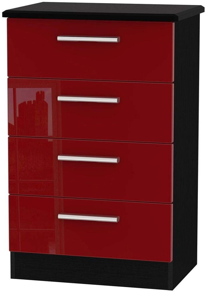Knightsbridge Ruby Chest of Drawer - 4 Drawer Midi