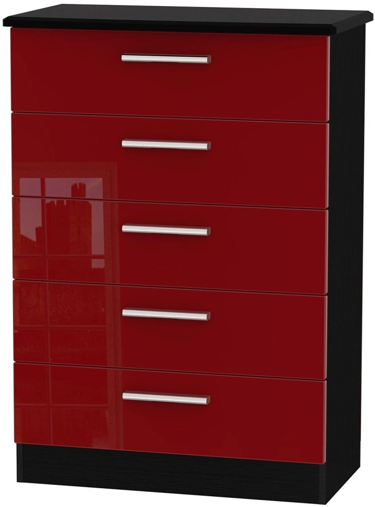 Knightsbridge Ruby Chest of Drawer - 5 Drawer