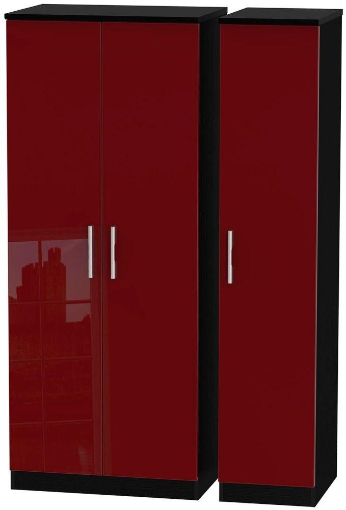 Knightsbridge Ruby Triple Plain Wardrobe