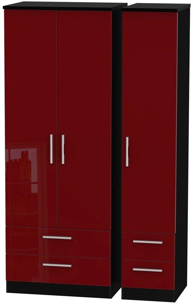 Knightsbridge Ruby Triple Wardrobe - Tall with Drawer