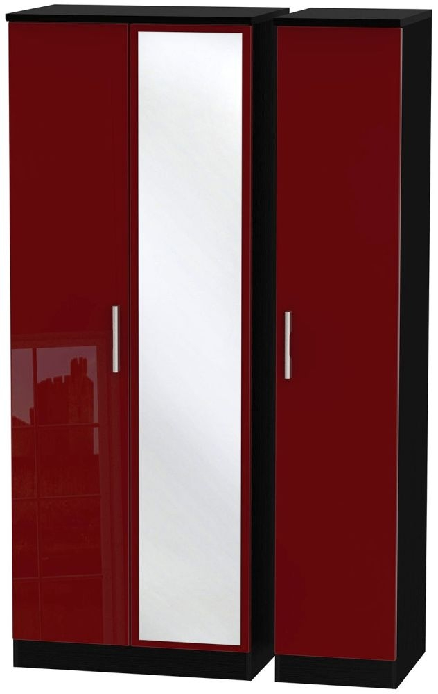 Knightsbridge Ruby Triple Wardrobe - Tall with Mirror