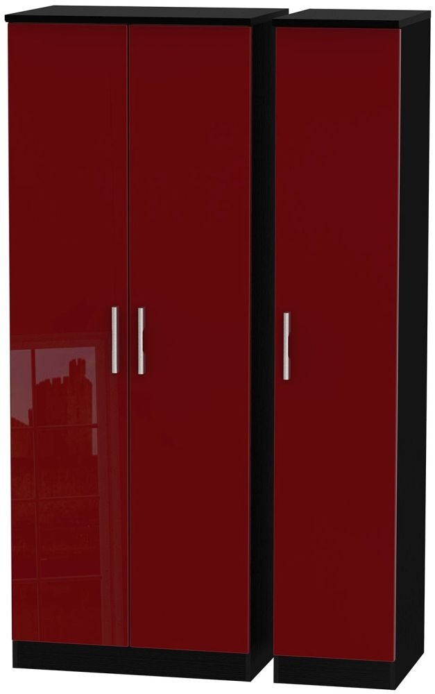 Knightsbridge Ruby Triple Wardrobe - Tall Plain