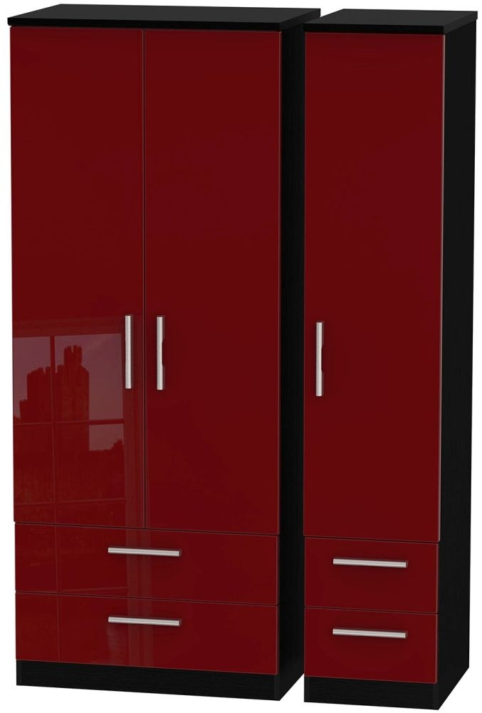 Knightsbridge Ruby Triple Wardrobe with Drawer