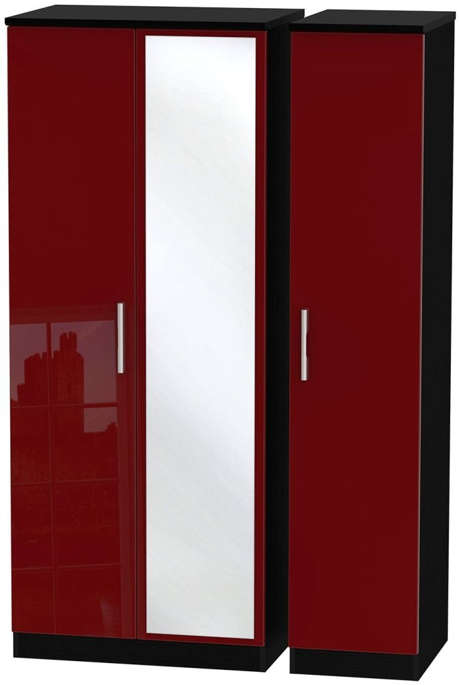 Knightsbridge Ruby Triple Wardrobe with Mirror