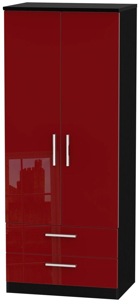 Knightsbridge Ruby Wardrobe - 2ft 6in with 2 Drawer