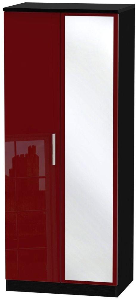 Knightsbridge Ruby Wardrobe - 2ft 6in with Mirror