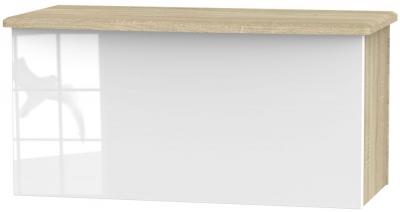 Knightsbridge Blanket Box - High Gloss White and Bardolino