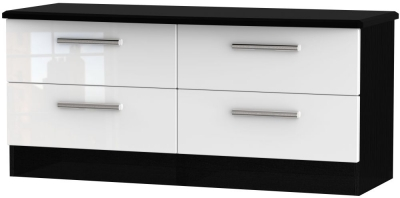Knightsbridge Bed Box - High Gloss White and Black