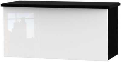 Knightsbridge Blanket Box - High Gloss White and Black