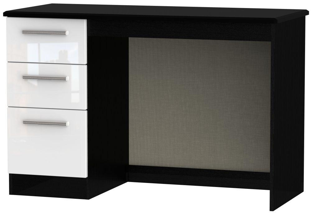 Knightsbridge Desk - High Gloss White and Black