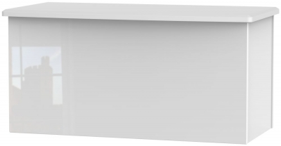 Knightsbridge High Gloss White Blanket Box