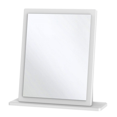 Knightsbridge White Small Mirror