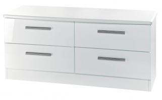 Knightsbridge White Bed Box - 4 Drawer