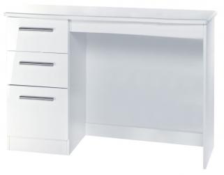 Knightsbridge White Desk - 3 Drawer