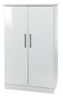 Knightsbridge White Wardrobe - 2ft 6in Plain Midi